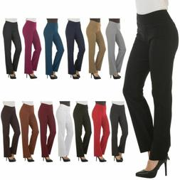 Bootcut Dress Pants for Women Stretch Comfy Work Office Pull