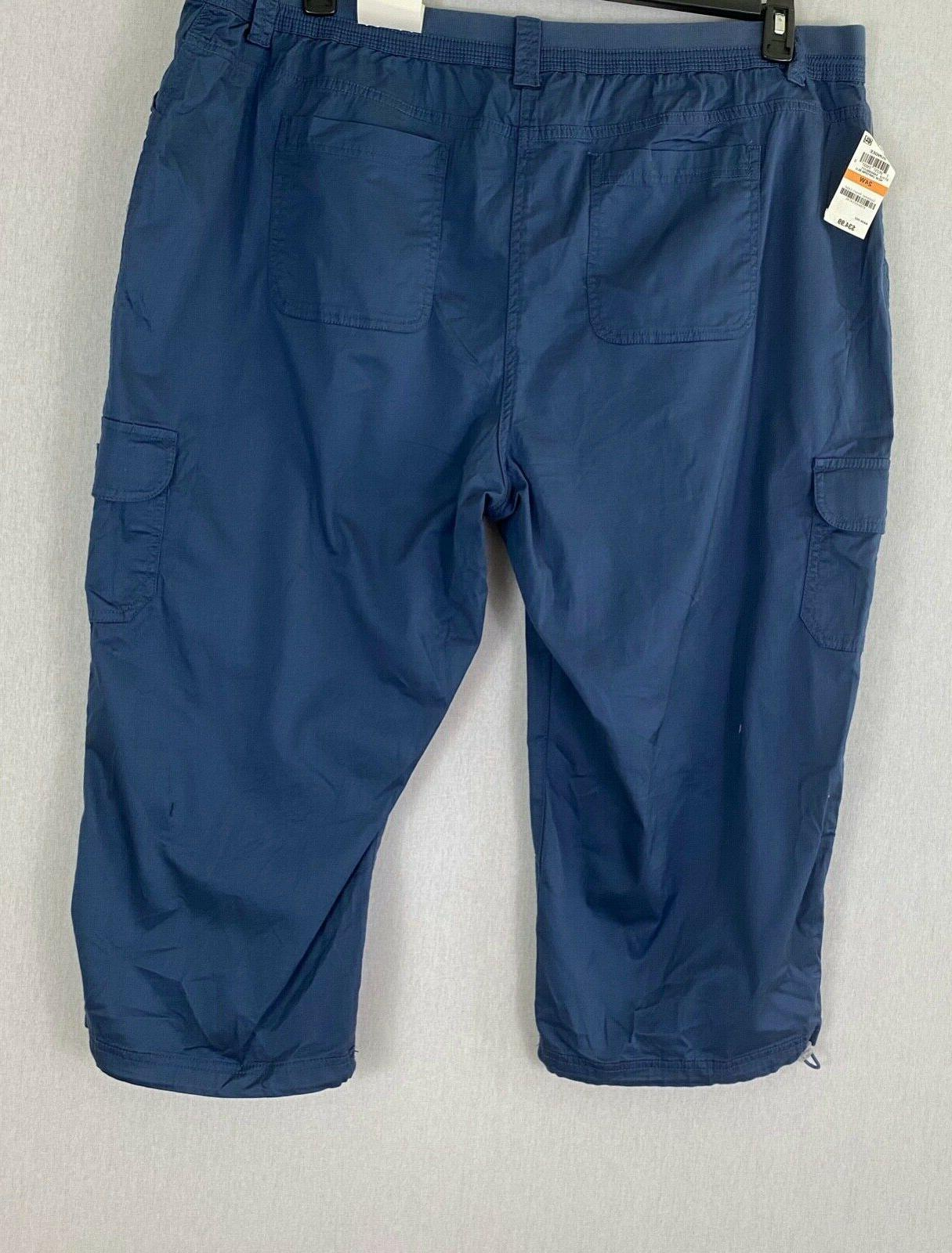 Style & Co Plus Capris Mid-Rise Pockets NWT