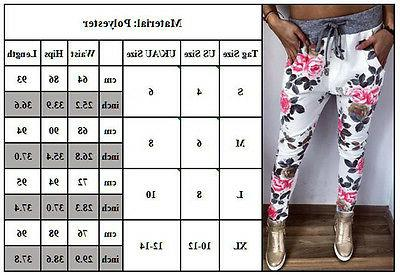 Women Casual Joggers Sports Bottoms Trousers Drawstring Cargo