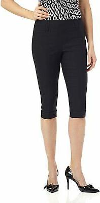 Rekucci Women's Ease in to Comfort Stretchy Slim Fit Capri w