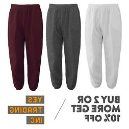 MENS WOMENS UNISEX PLAIN SWEATPANTS 3 POCKET CASUAL JOGGERS