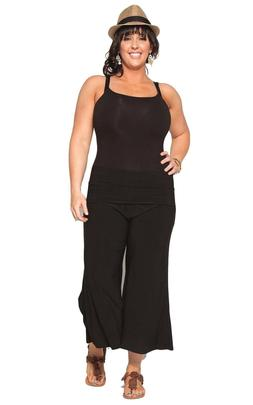 New Women's Plus Size Black Gaucho  Pants Sizes 1X 2X 3X  US