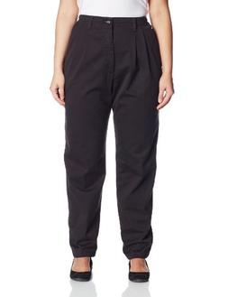 Lee Women's Plus-Size Relaxed Fit Side Elastic Pant, Black,