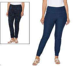 Women with Control Renee's Reversibles Ankle Pants Ink/Leaf