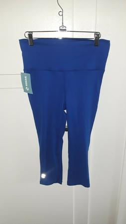 SOFFE WOMEN'S BLUE ACTIVE PANTS, STRETCH, SIZE S