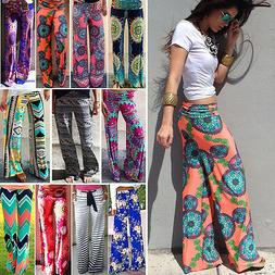 Women Harem Long Pants Hippie Wide Leg Gypsy Yoga Dance Boho