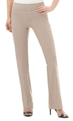 REKUCCI WOMEN'S EASE IN TO COMFORT BOOT CUT PANT, TAN, 16
