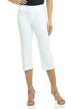 Rekucci Women's Ease in to Comfort Fit Capri with Button Det