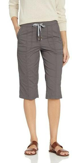 LEE Women's Flex-to-Go Relaxed Fit Pull-On Utility Capri Pan