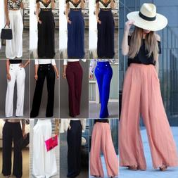 Women's Palazzo Flared Wide Leg Pants High Waist Loose Culot