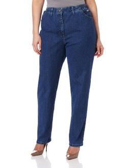 LEE Women's Plus-Size Relaxed Fit Side Elastic Tapered Leg J