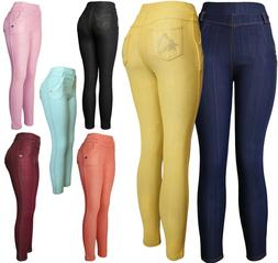 Women's Pull On Stretch Jeggings Pants with Sparkle